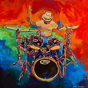 Rock And Roll Painting Originals - Magic Cymbals by Terri Haugen