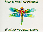 Dragonfly Mixed Media Framed Prints - Magic Dragonfly Framed Print by Patricia Allingham Carlson
