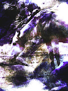Grazing Horse Digital Art Posters - Magic Horse Poster by Robert Ball