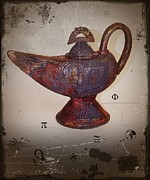 Incised Ceramics - Magic Lantern - Aladdin  by Andre Pillay