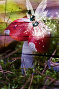 White Cap Digital Art - Magic moshroom fairy  by Nathan Wright