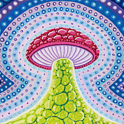 Visionary Art Painting Prints - Magic Mushroom Print by Christopher Sheehan