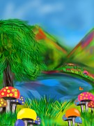 Mushroom Digital Art - Magic Mushrooms by Christine Fournier