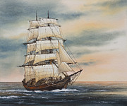 Maritime Greeting Card Painting Originals - Magic of the Sea by James Williamson