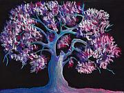 Purple Print Framed Prints - Magic Tree Framed Print by Anastasiya Malakhova