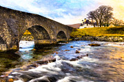 Yellow Bridge Digital Art Posters - Magic Waters On The Isle Of Skye Poster by Mark E Tisdale