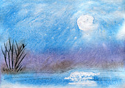 Snowy Night Paintings - Magic Winter Nights by R Kyllo
