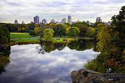 New York Vista Framed Prints - Magical 3 - Central Park - New York Framed Print by Madeline Ellis