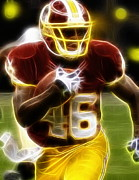 Redskins Posters - Magical Alfred Morris Poster by Paul Van Scott