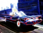 Bat Mobile Framed Prints - Magical Batmobile Framed Print by Paul Van Scott