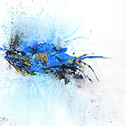 Isi Art - Magical Blue 1- abstract art by Ismeta Gruenwald