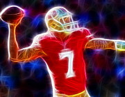 Colin Kaepernick Framed Prints - Magical Colin Kaepernick Framed Print by Paul Van Scott