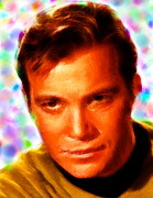 Captain Kirk Framed Prints - Magical Kirk Framed Print by Paul Van Scott