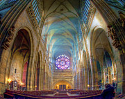 Church Architecture Posters - Magical Light Poster by Joan Carroll