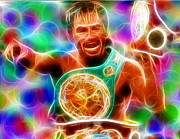 Championship Drawings Posters - Magical Manny Pacquiao Poster by Paul Van Scott