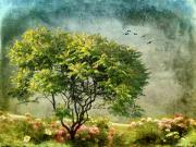 Fantasy Tree Art Prints - Magical Mimosa Print by Jessica Jenney