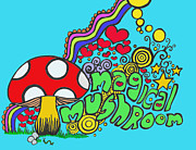 Magical Mushroom Pop Art Print by Moya Moon