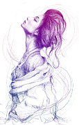 Pencil Prints - Magical Print by Olga Shvartsur