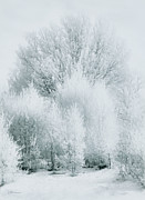 Snow White Metal Prints - Magical Snow Palace Metal Print by Zeana Romanovna
