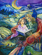 Books Paintings - Magical Storybook by Jen Norton