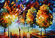 Cityscape Paintings - Magical Time by Leonid Afremov