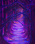 Pathways Mixed Media Framed Prints - Magick Forest Framed Print by Luanna Swaney