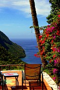 Carribean Sea Framed Prints - Magnificent Ladera Framed Print by Karen Wiles