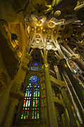 Archways Posters - Magnificent Sagrada Interior Poster by Deborah Smolinske