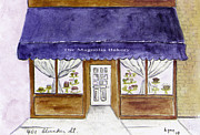 Greenwich Village Paintings - Magnolia Bakery in Greenwich Village by Lynn Lieberman