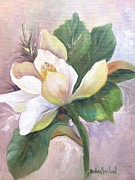 """texas Artist"" Originals - Magnolia Blossom by Barbara Haviland"