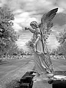 Seraphim Angel Framed Prints - Magnolia Cemetery in Mobile Alabama Framed Print by Terry Reynoldson
