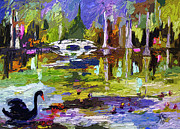 Swans... Mixed Media - Magnolia Gardens Charleston South Carolina Modern Art by Ginette Callaway