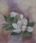 Colored Background Originals - Magnolia Grandeur by Jayne Morgan