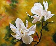 Faa Painting Prints - Magnolia In Spring Print by Alfred Ng