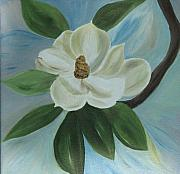 Paula Peltier - Magnolia on Blue