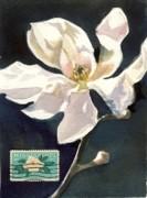 Alfred Ng - magnolia stamp art