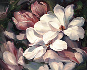 Whites Paintings - Magnolia Symphony by Laurie Hein