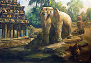 Punch Paintings - Mahabalipuram by Shankar Subramaniam