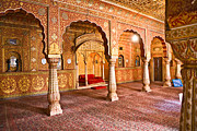 Orchha Framed Prints - Maharajah room - Rajasthan Framed Print by Luciano Mortula
