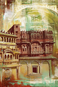 National Painting Posters - Maharangarh Fort Poster by Catf