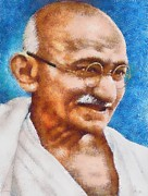 Rights Pastels - Mahatma Gandhi by Patrick OHare