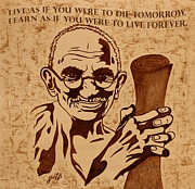 Gandhi Prints - Mahatma Gandhi Quote  Print by Georgeta Blanaru