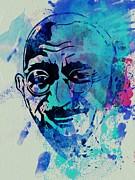 Mahatma Gandhi Watercolor Print by Irina  March