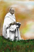 Mahatma Ghandi Print by C A Soto Aguirre