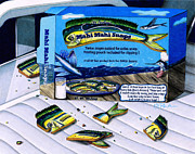 Cookie Drawings Prints - Mahi Mahi Snaps Print by Karen Rhodes