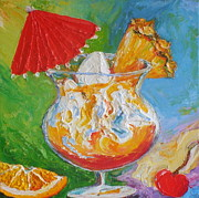 Fruit And Wine Paintings - Mai Tai Mixed Drink by Paris Wyatt Llanso