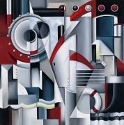 Mechanical Painting Posters - Maiden Voyage Poster by Catherine Abel