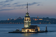 Topkapi Prints - Maidens Tower Print by Ayhan Altun