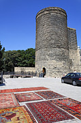Carpet Photo Posters - Maidens Tower in Baku Old Town Azerbaijan Poster by Robert Preston