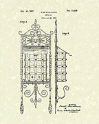 Mail Box Drawings Posters - Mail Box 1927 Patent Art Poster by Prior Art Design